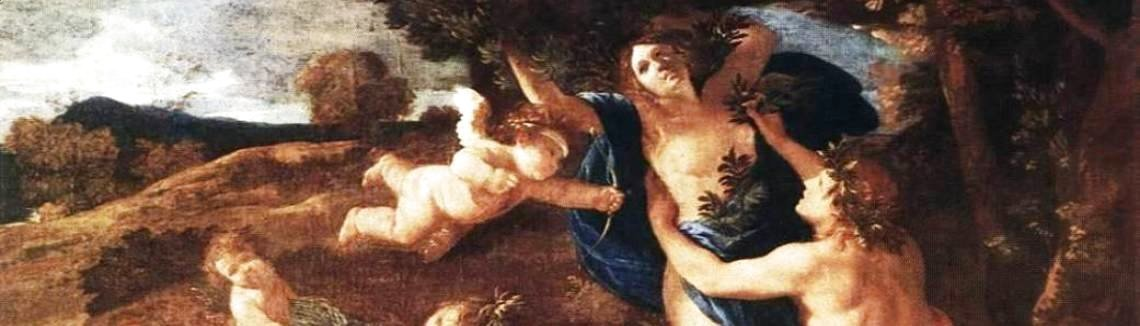 Nicolas Poussin - Apollo and Daphne 1625