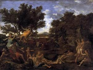 Nicolas Poussin - Apollo and Daphne 1664