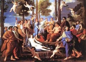 Nicolas Poussin - Apollo and the Muses (Parnassus) 1630s