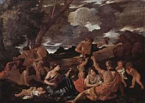 Nicolas Poussin - Bacchanal- the Andrians 1628-30