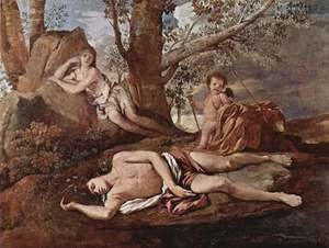 Nicolas Poussin - Echo and Narcissus 1628-30