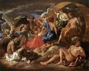 Nicolas Poussin - Helios and Phaeton with Saturn and the Four Seasons c. 1635
