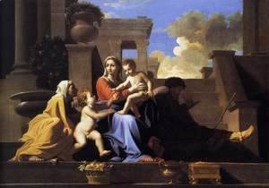 Nicolas Poussin - Holy Family on the Steps 1648