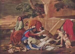 Nicolas Poussin - Lamentation over the Body of Christ 1628-29