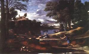 Nicolas Poussin - Landscape with a Man Killed by a Snake 1648