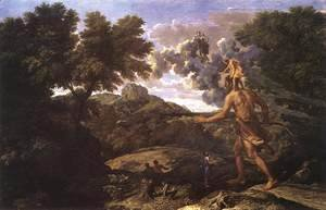 Nicolas Poussin - Landscape with Diana and Orion 1660-64