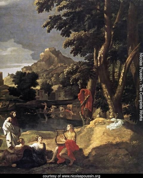 Landscape with Orpheus and Euridice (detail) 1648