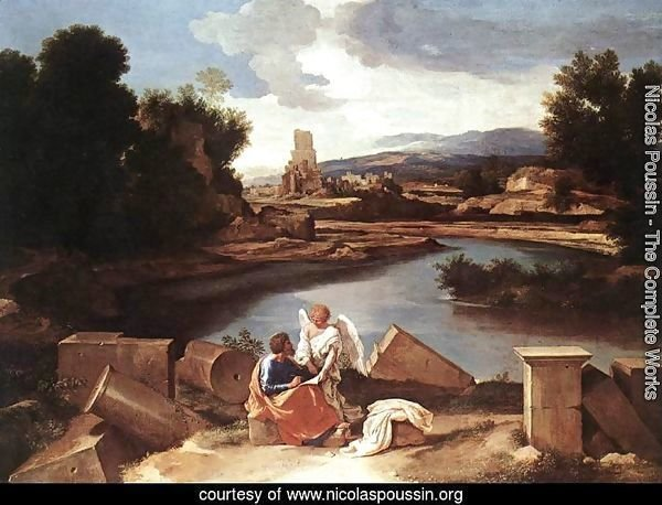 Landscape with St Matthew and the Angel c. 1645