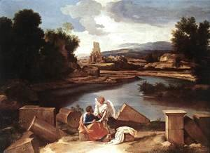 Nicolas Poussin - Landscape with St Matthew and the Angel c. 1645