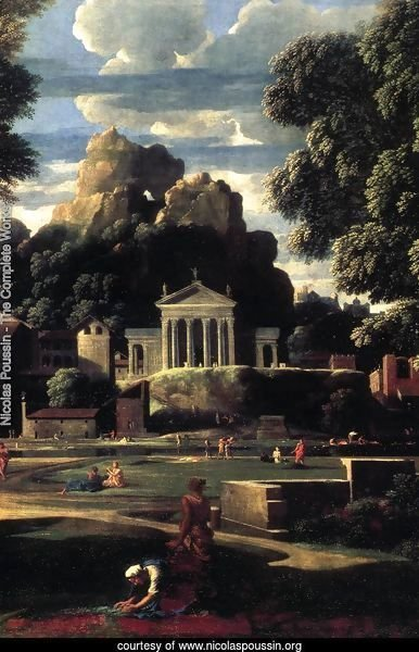 Landscape with the Gathering of the Ashes of Phocion (detail) 1648