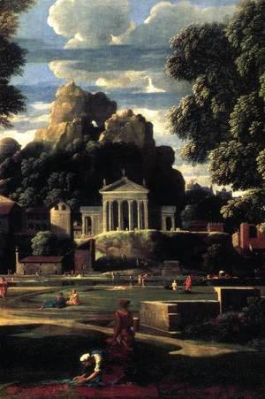 Nicolas Poussin - Landscape with the Gathering of the Ashes of Phocion (detail) 1648