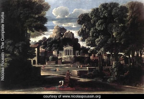 Landscape with the Gathering of the Ashes of Phocion by his Widow 1648