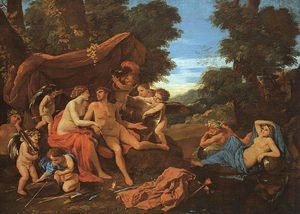 Nicolas Poussin - Mars and Venus 1627-29
