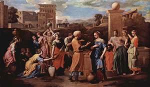 Nicolas Poussin - Rebecca at the Well c. 1648