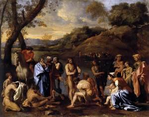 Nicolas Poussin - St John the Baptist Baptizes the People c. 1635