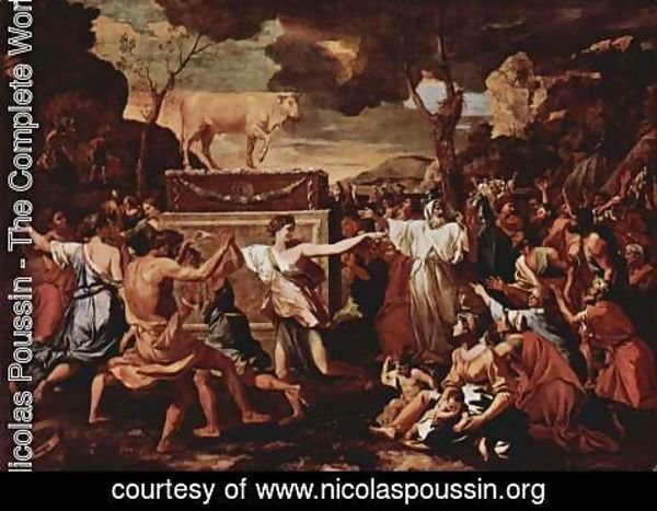Nicolas Poussin - The Adoration of the Golden Calf c. 1634