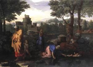 Nicolas Poussin - The Exposition of Moses c. 1650