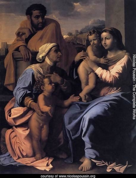 The Holy Family with St Elizabeth and John the Baptist c. 1655