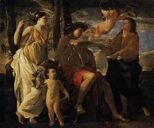 Nicolas Poussin - The Inspiration of the Poet c. 1630
