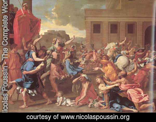 Nicolas Poussin - The Rape of the Sabine Women 1634-35
