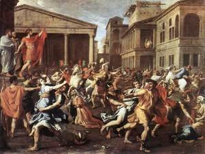Nicolas Poussin - The Rape of the Sabine Women 1637-38