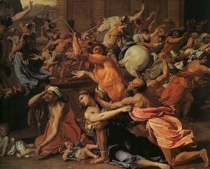 Nicolas Poussin - The Rape of the Sabine Women (detail)