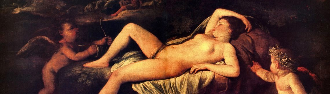 Nicolas Poussin - Sleeping Venus and Cupid