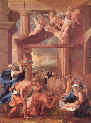 Nicolas Poussin - The Adoration of the Shepherds