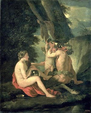 Nicolas Poussin - Satyr and Nymph, 1630