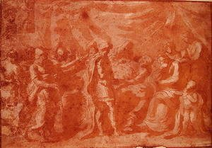 Nicolas Poussin - Study for the Death of Germanicus