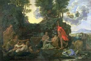 Nicolas Poussin - The Infant Bacchus Entrusted to the Nymphs of Nysa; The Death of Echo and Narcissus, 1657
