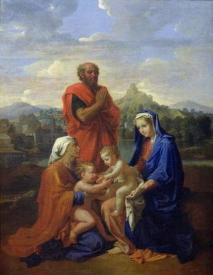 Nicolas Poussin - The Holy Family with St. John, St. Elizabeth and St. Joseph Praying, 1656