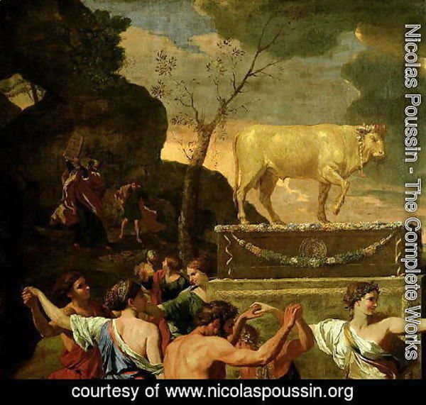 Nicolas Poussin - The Adoration of the Golden Calf, before 1634
