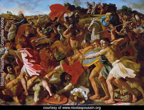Victory of Joshua over the Amalekites, 1625-6