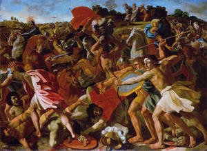 Nicolas Poussin - Victory of Joshua over the Amalekites, 1625-6