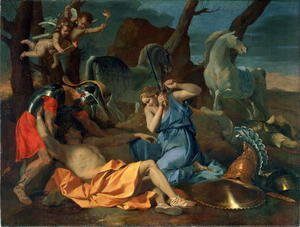 Nicolas Poussin - Tancred and Erminia, c.1635