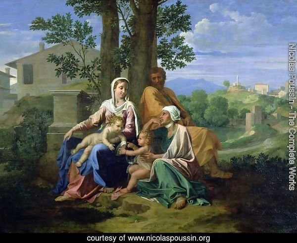 The Holy Family with SS. John, Elizabeth and the Infant John the Baptist