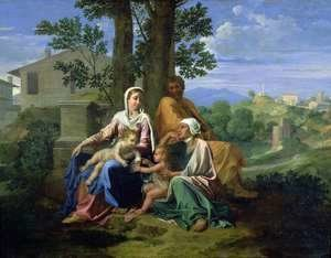 Nicolas Poussin - The Holy Family with SS. John, Elizabeth and the Infant John the Baptist