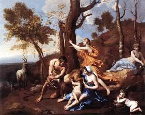 Nicolas Poussin - The Nurture of Jupiter, mid-1630s