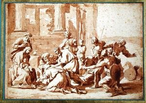 Nicolas Poussin - Study for the Adoration of the Magi