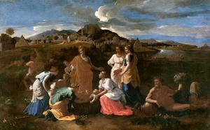 Nicolas Poussin - Moses Rescued from the Water, 1647