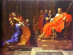 Nicolas Poussin - Esther before Ahasuerus, late 1650s