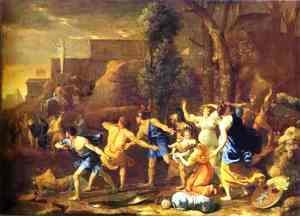 Nicolas Poussin - The Saving of the Infant Pyrrhus, 1634