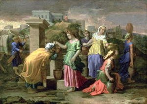 Nicolas Poussin - Eliezer and Rebecca at the Well, c.1660-65