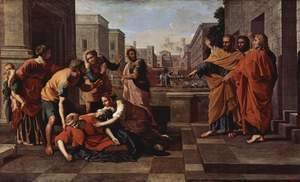Nicolas Poussin - The Death of Sapphira