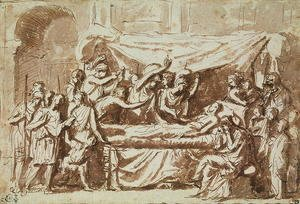 Nicolas Poussin - The Death of Germanicus 15BC-19AD c.1630
