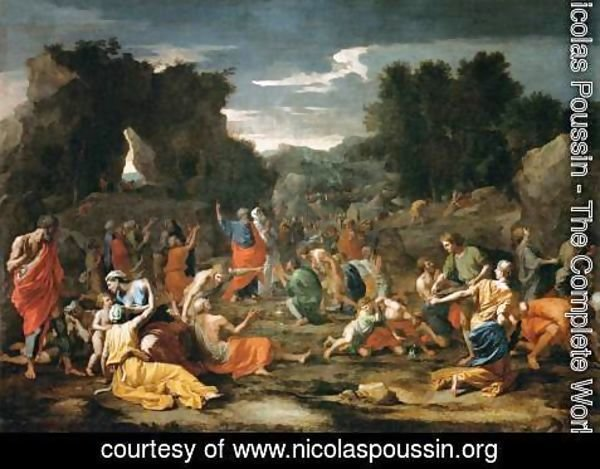 Nicolas Poussin - The Gathering of Manna, c.1637-9 2