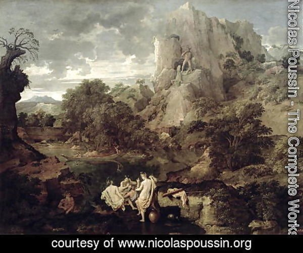 Nicolas Poussin - Landscape with Hercules and Cacus, c.1656