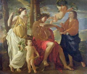 Nicolas Poussin - The Poets Inspiration