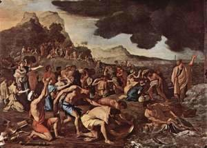 Nicolas Poussin - The Crossing of the Red Sea, c.1634